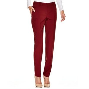 Theory Testra Tailor Wool Red Pants